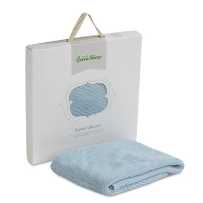 The Little Green Sheep Organic Knitted Baby Blanket