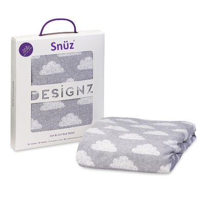 The Little Green Sheep Snuz Cloud Nine 100% Cotton Cot and Cot Bed Fitted Sheet