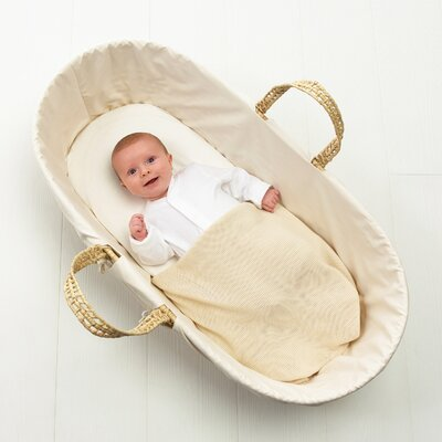 The Little Green Sheep Organic Cotton Moses Basket Jersey Fitted Sheet