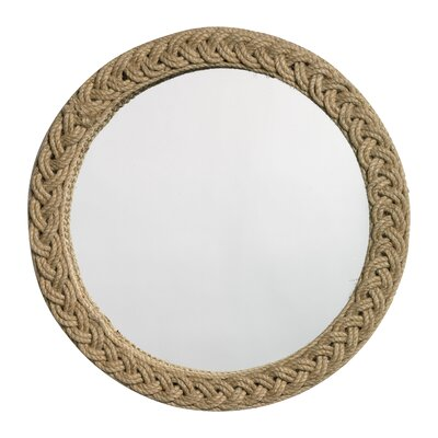 Jamie Young Company Jute Round Braided Mirror