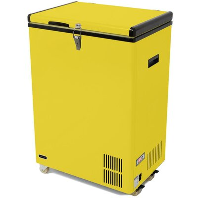 3.17 cu. ft. Compact Refrigerator with Freezer Color: Yellow