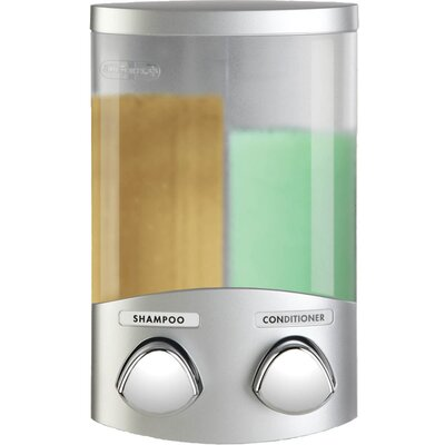 Euro Duo Dispenser with Translucent Containers Finish: Satin Silver