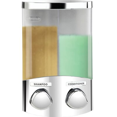 Euro Duo Dispenser with Translucent Containers Finish: Chrome