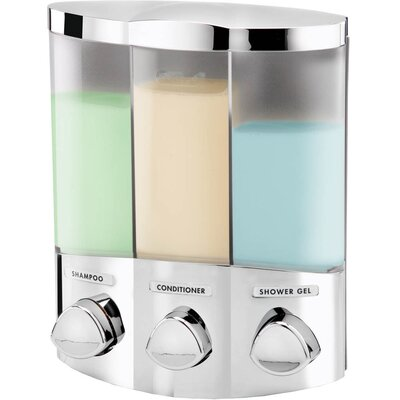 Euro Trio Dispenser with Translucent Container Finish: Chrome