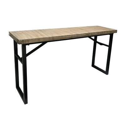 "Calie Rectangle Console Table Size: 27.75"" H x 52"" W x 13.75"" D"