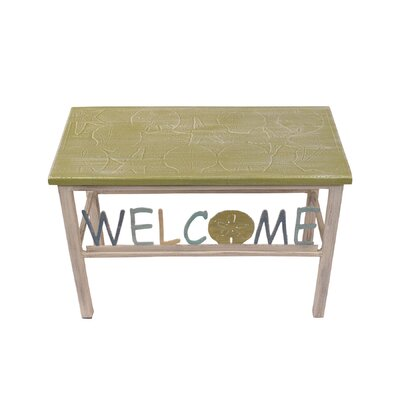Iser Multi Shell Welcome Sand Dollar Wood Bench
