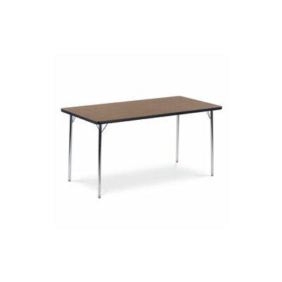 4000 Series 60'' x 30'' Rectangular Activity Table Leg Type: Standard Legs / Medium Oak Banding