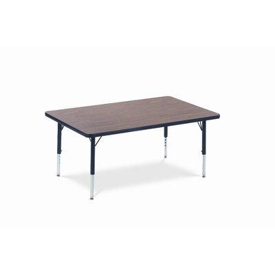 4000 Series 48'' x 30'' Rectangular Activity Table Leg Type: Standard Legs / Grey Nebula Banding