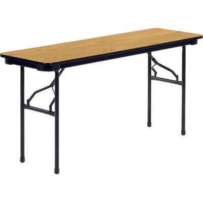 "6000 Series Rectangular Folding Table Tabletop Finish: Medium Oak, Size: 29"" H x 96"" W x 18"" D"