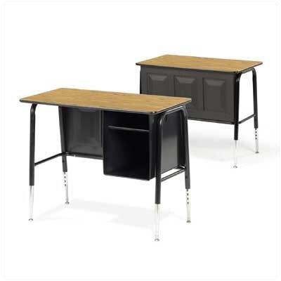 Virco 765 Series Laminate Adjustable Height Computer Desk