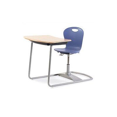 Virco Zuma Plastic Adjustable Height Combo Desk
