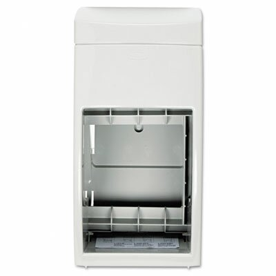 Matrix Series Two-Roll Tissue Dispenser, 6 1/4 x 6 7/8 x 13 1/2, Gray