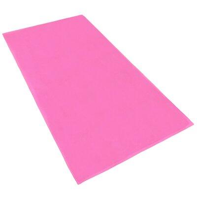 Velour 100% Cotton Beach Towel Color: Pink