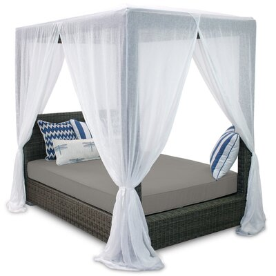 Palisades Queen Canopy Bed with Cushions Fabric: Graphite