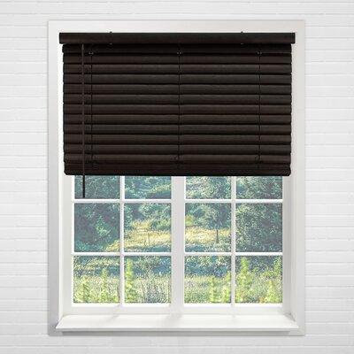 "Horizontal/Venetian Blind Blind Size: 39""W x 64""L, Color: Dark Walnut"