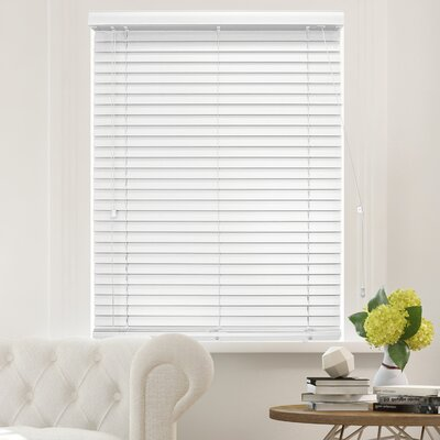 "Blackout Horizontal/Venetian Blind Color: Simply White, Blind Size: 32""W x 64""L"