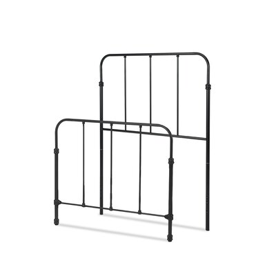Collin Kids Bed with Metal Duo Panels Color: Space Black, Size: Twin