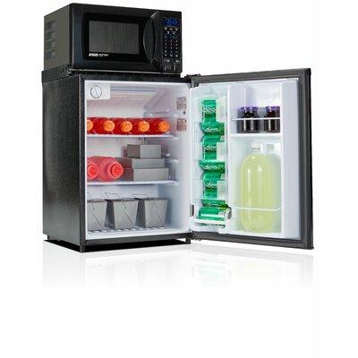 Safe Plug 2.3 cu. ft. Compact Refrigerator with Microwave Color: Black