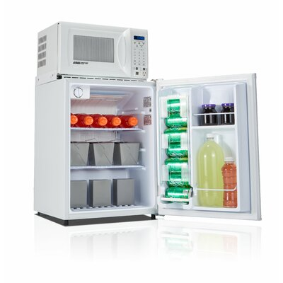 Safe Plug 2.3 cu. ft. Compact Refrigerator with Microwave Color: White