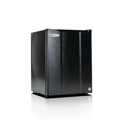 Safe Plug 2.3 cu. ft. Compact Refrigerator Color: Black