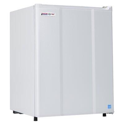 Safe Plug 2.3 cu. ft. Compact Refrigerator Color: White