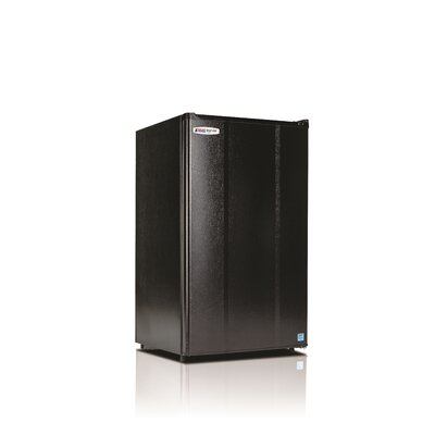 Safe Plug 3.6 cu. ft. Compact Refrigerator Color: Black