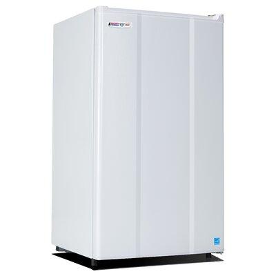 Safe Plug 3.6 cu. ft. Compact Refrigerator Color: White