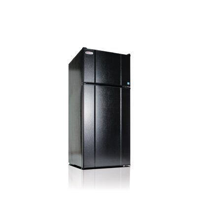 Apartment 10.3 cu. ft. Top Freezer Refrigerator Color: Black
