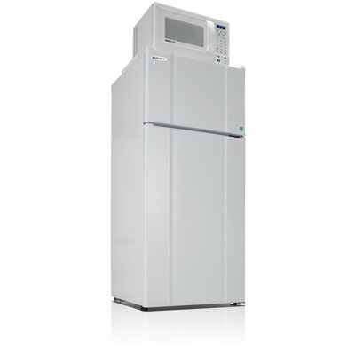 Apartment 10.3 cu. ft. Top Freezer Refigerator with Microwave Color: White