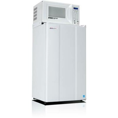 Safe Plug 3.6 cu. ft. Compact Refrigerator with Microwave Color: White