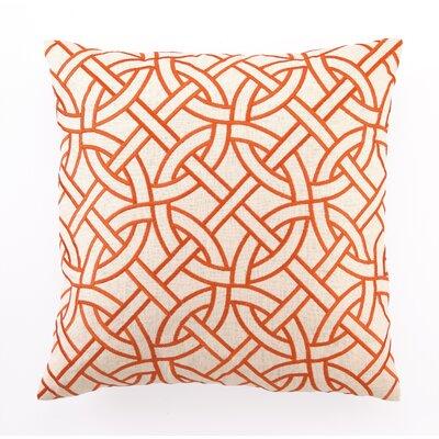 D.L. Rhein Embroidered Circle Link Linen Throw Pillow