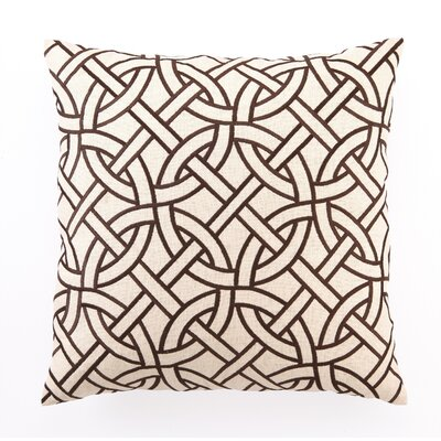 D.L. Rhein Embroidered Circle Link Linen Throw Pillow