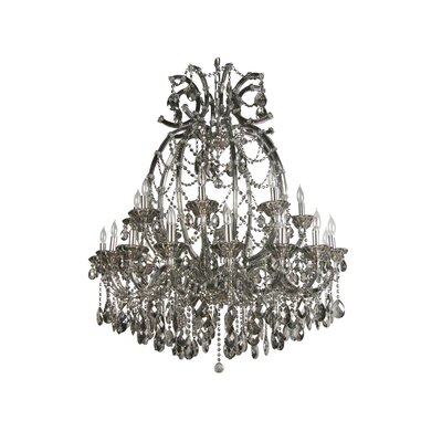 Horsham 24-Light Candle Style Chandelier Crystal Color: Clear