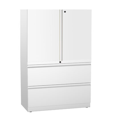 Trace 2 Door Storage Cabinet Finish: Warm Grey Neutral
