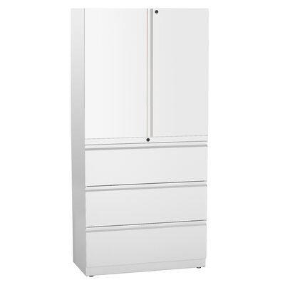 Trace 2 Door Storage Cabinet Finish: White