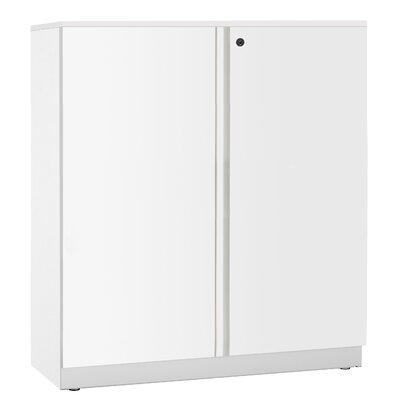 Trace 2 Door Storage Cabinet Finish: White