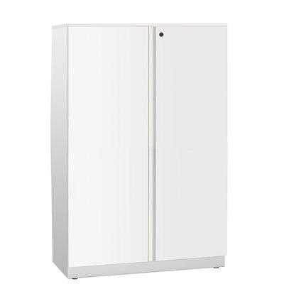 Trace 2 Door Storage Cabinet Finish: Black