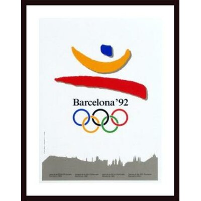 Printfinders Barcelona 1992 Framed Vintage Advertisement