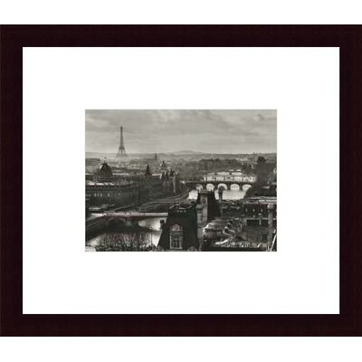Printfinders River Seine And The City of Paris, Circa 1991 by Peter Turnley Framed Photographic Print