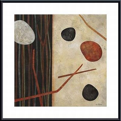 Printfinders 'Sticks and Stones I' by Glenys Porter Framed Painting Print