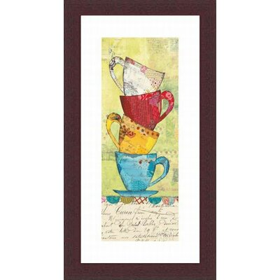 Printfinders 'Come for Coffee' by Courtney Prahl Framed Graphic Art