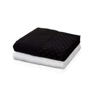 Cioffi Swarovski Premium 100% Cotton Washcloth Color: Black