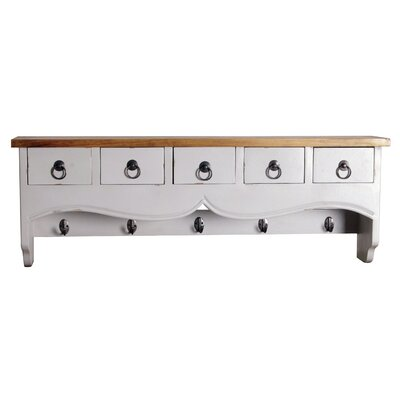 Oceans Apart Truco Wall Mounted Coat Rack with 5 Drawer Chest