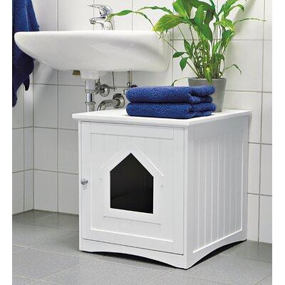 Freda Cat Home Litter Box Enclosure Color: White
