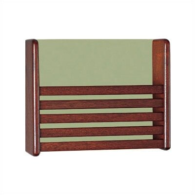 1 Pocket Magazine Rack with Front Slats Wood Finish: Natural Maple, Back Panel Color: Soft White