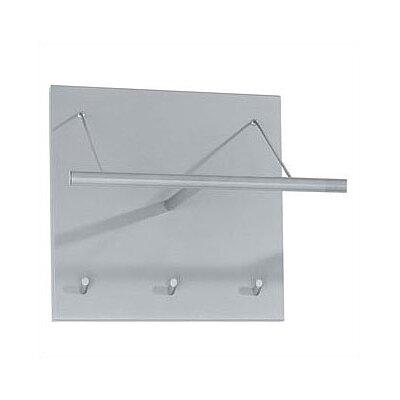 Artform Logo Coat Rack with Hanger Bar and 3 Hooks Back Color: Aluminum Metallic