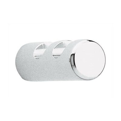 Coat and Hat Hook and Rounded Face Coat Hooks: Two, Finish: Natural Polished Anodized Aluminum