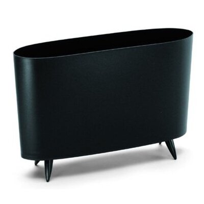 Milano Magazine Rack Color: Cosmos Black