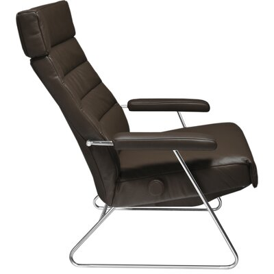 Adele Leather Manual Recliner Upholstery: Magnolia