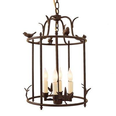 Avery Wall Hanging Birdhouse Lamp : Bird Cage 4 Light Outdoor Pendant Wayfair